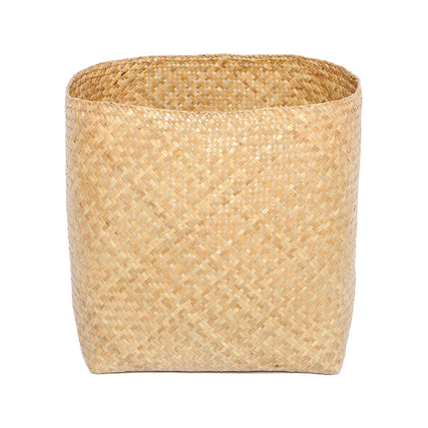 Wastecan / Storage Basket . Natural Bulrush . Medium