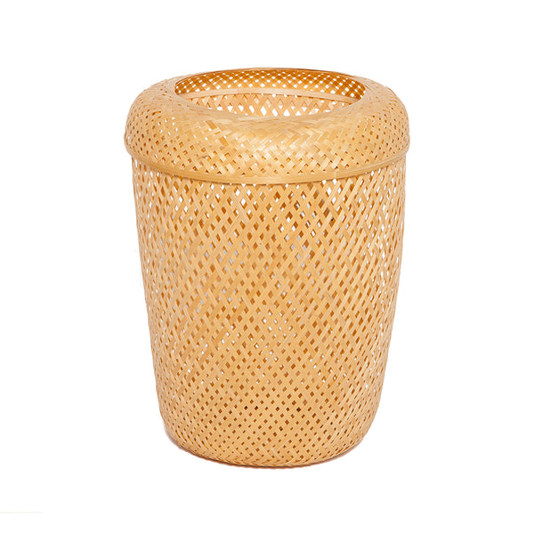Wastecan / Storage Basket . Natural . Lid
