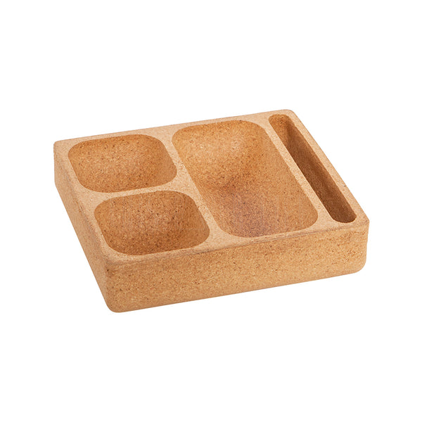 Desk Storage . Desktop Organiser . Cork / 3 Compartments
