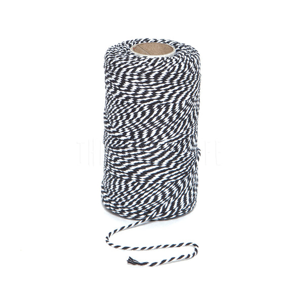 Bakers Twine . Black Candy Stripe