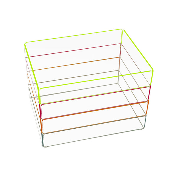Storage . Acrylic Stacking Tray - Large / Neon colours