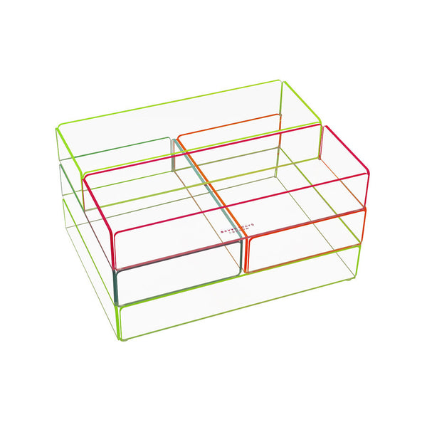 Storage . Acrylic Stacking Tray - Medium / Neon colours