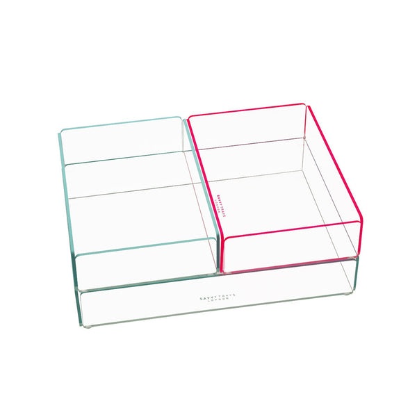 Storage . Acrylic Stacking Tray - Small / Neon colours
