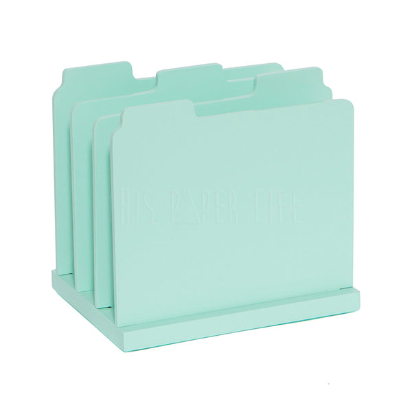 Desk Storage . Paper Organiser . Mint Green
