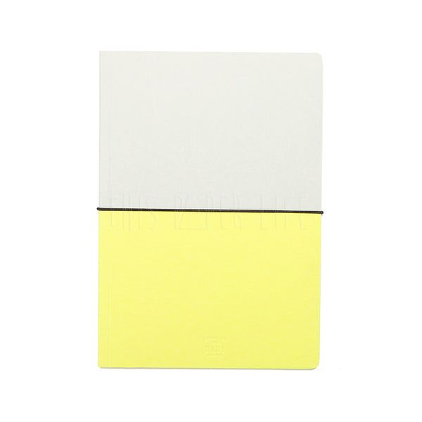 Notebook . A5 . Grid / Yellow + Soft Grey
