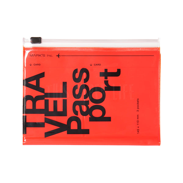 Travel Organiser . Passport Case . Neon Orange