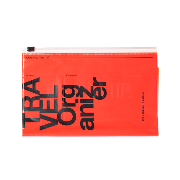 Travel Organiser . Wallet Kit . Neon Orange