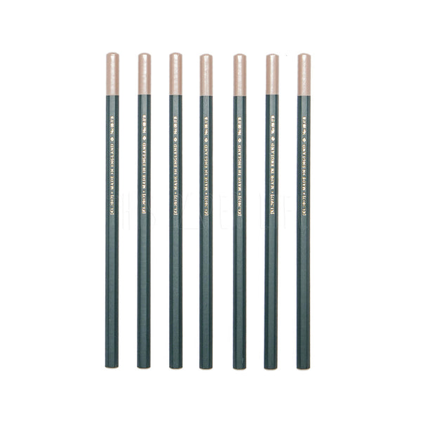 Pencils Set of 7 . Dark Green & Pink Dipped