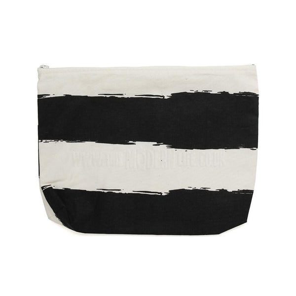 Pencil Case . Black Stripe Wide
