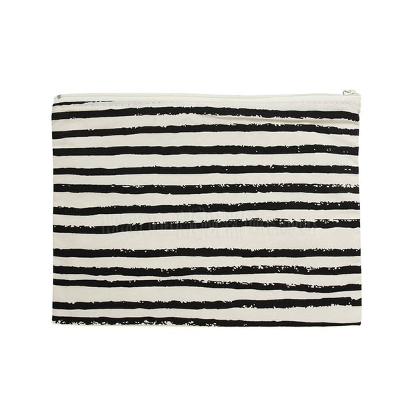 Pencil Case . Black Stripe Skinny