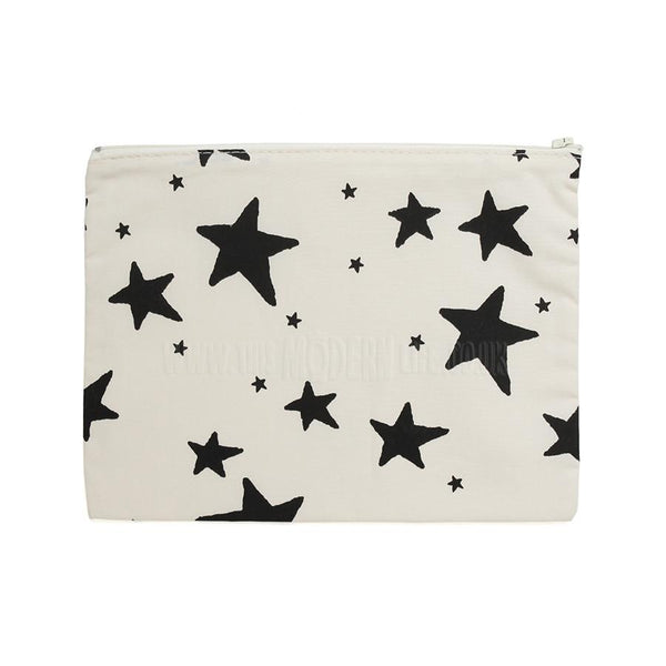 Pencil Case . Black Stars