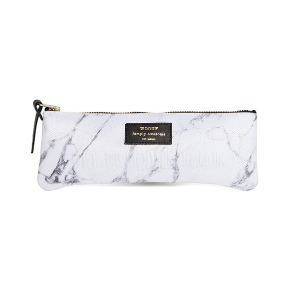Pencil Case . Marble . White