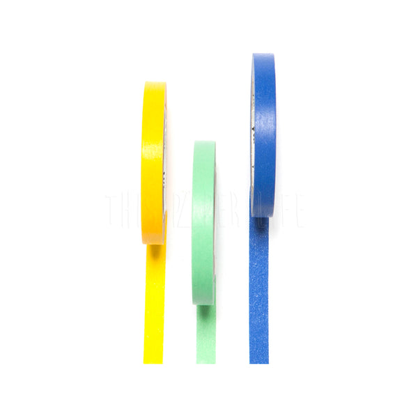 Washi Tape . Slim - Set of 3 / Blue / Green / Yellow