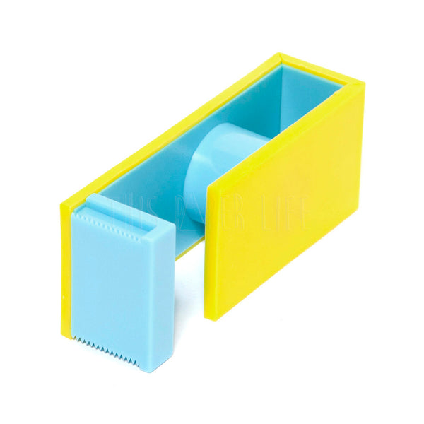 Washi Tape Cutter . 2 Tone - Yellow / Light Blue