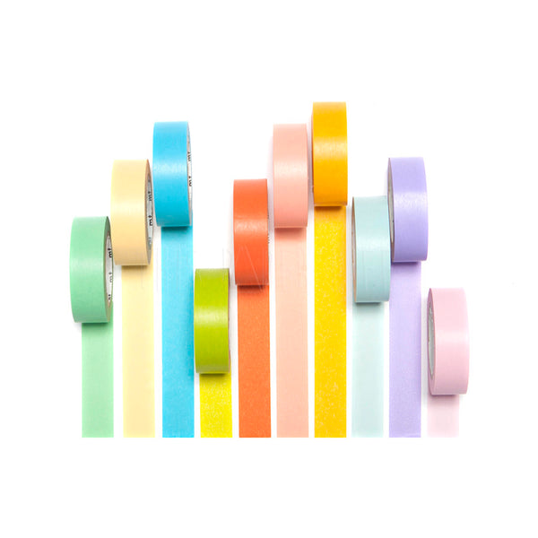 Washi Tape . Set of 10 / Light Colours