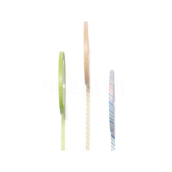 Washi Tape . Slim - Set of 3 / Pastel