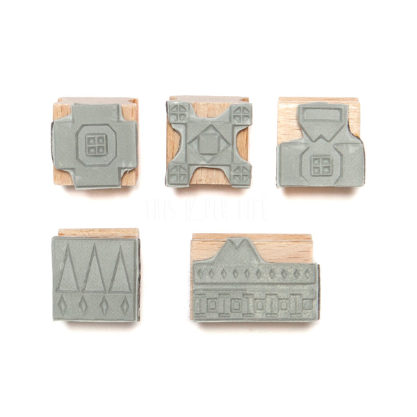 Stamp Set . Aztec