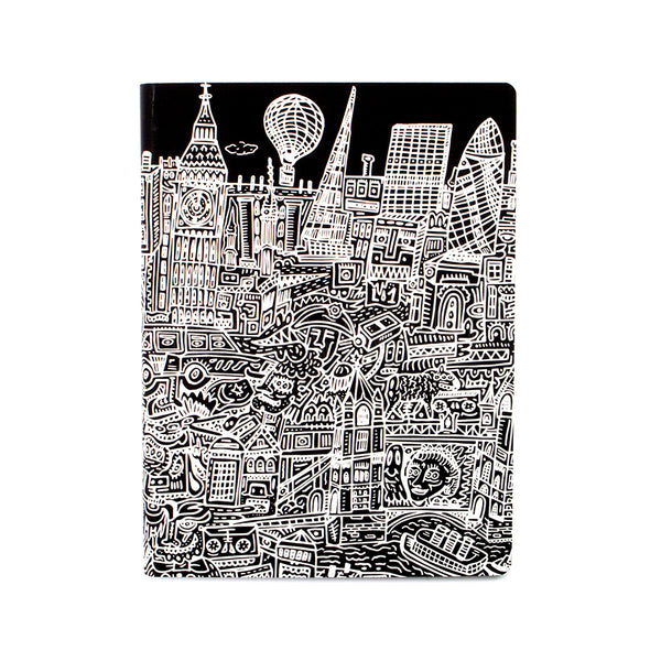 Notebook . Large Dotted Journal / Graphic London