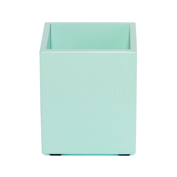 Pen Holder / Cup . Rectangular . Mint