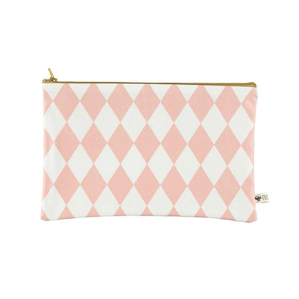 Pencil Case . Roma / Pink Diamonds