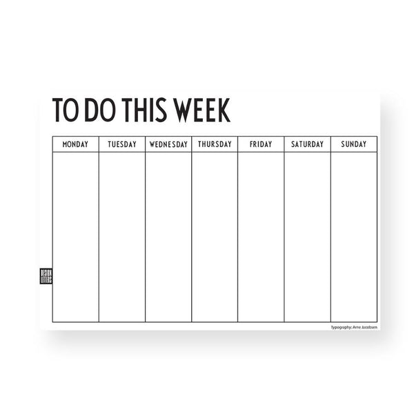 Weekly Planner . To Do This Week