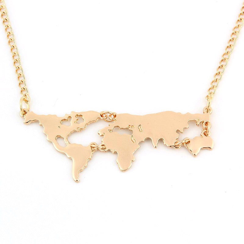 World map necklace northportshop world map necklace gumiabroncs Gallery