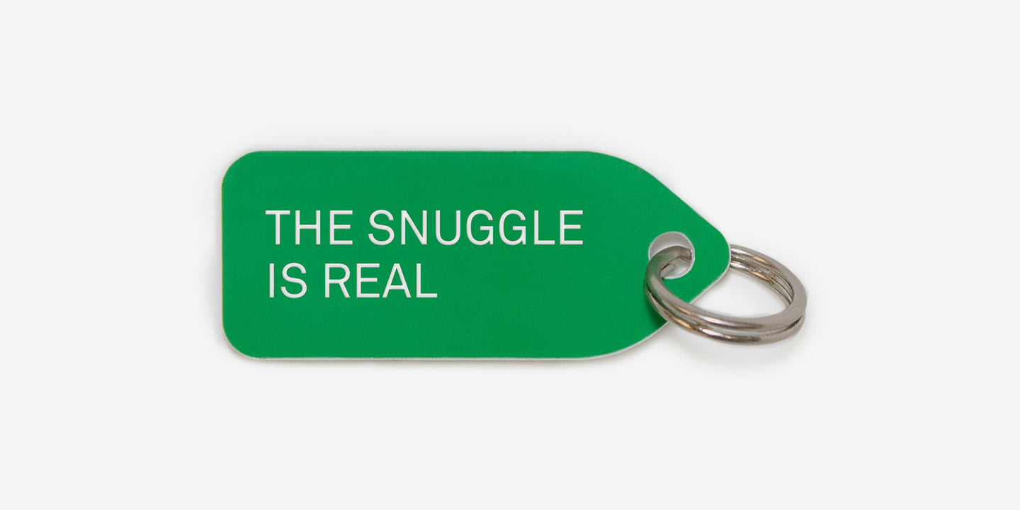 The Snuggle Is Real Dog Tag Collar Charm Growlees