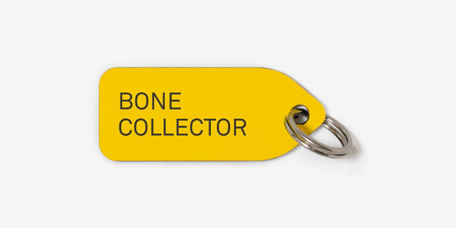 Collar charm | dog tag | bone collector | growlees
