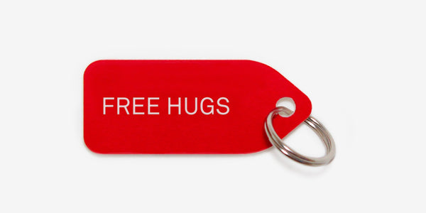 Dog tag - Free hugs