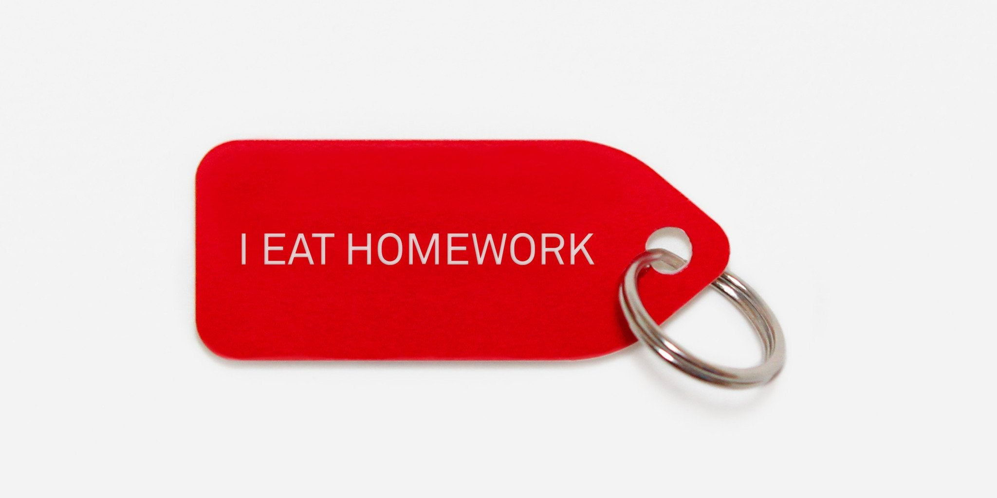 Dog tag - I eat homework