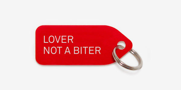 Dog tag - Lover not a biter
