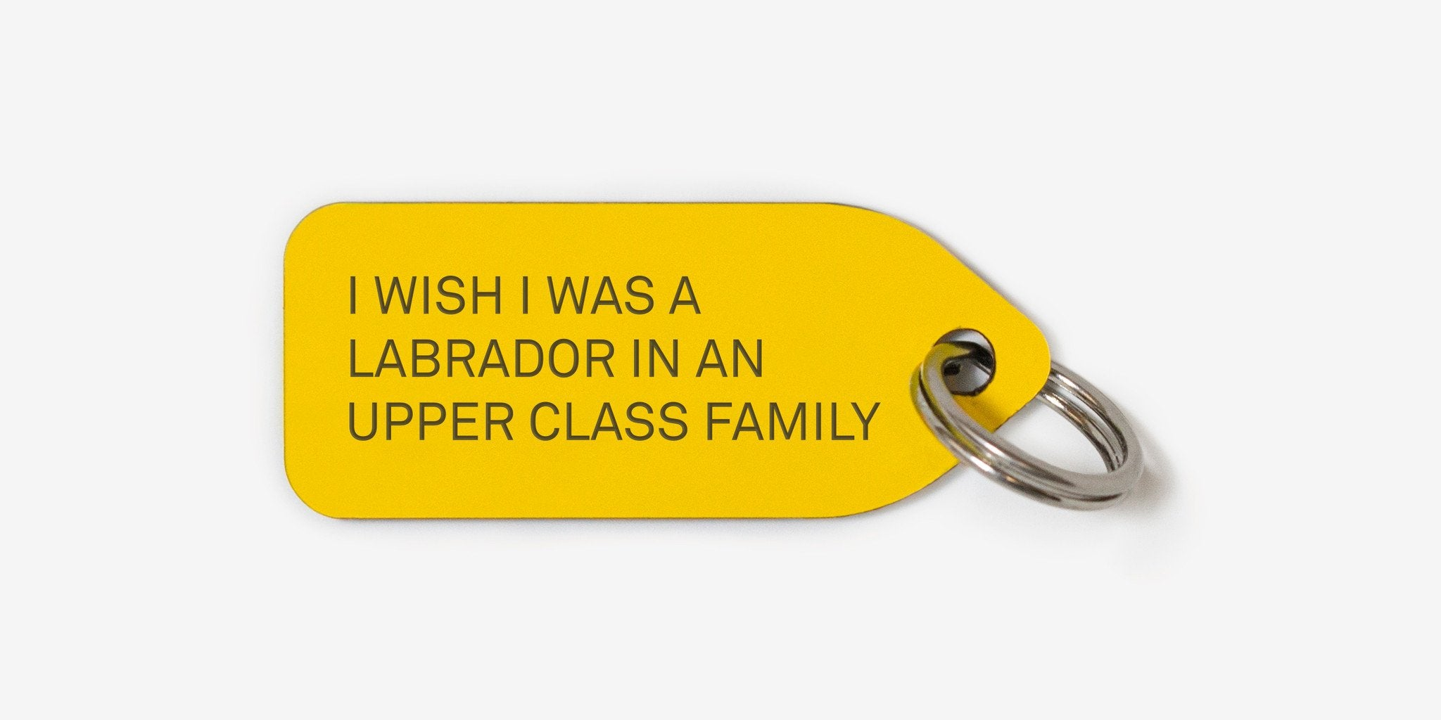 I wish I was a Labrador in an upper class family | dog tag |
