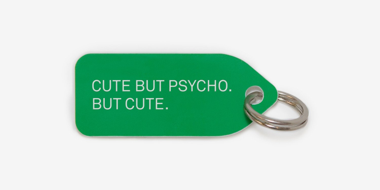 Cute but psycho | dog tag | collar charm | Growlees