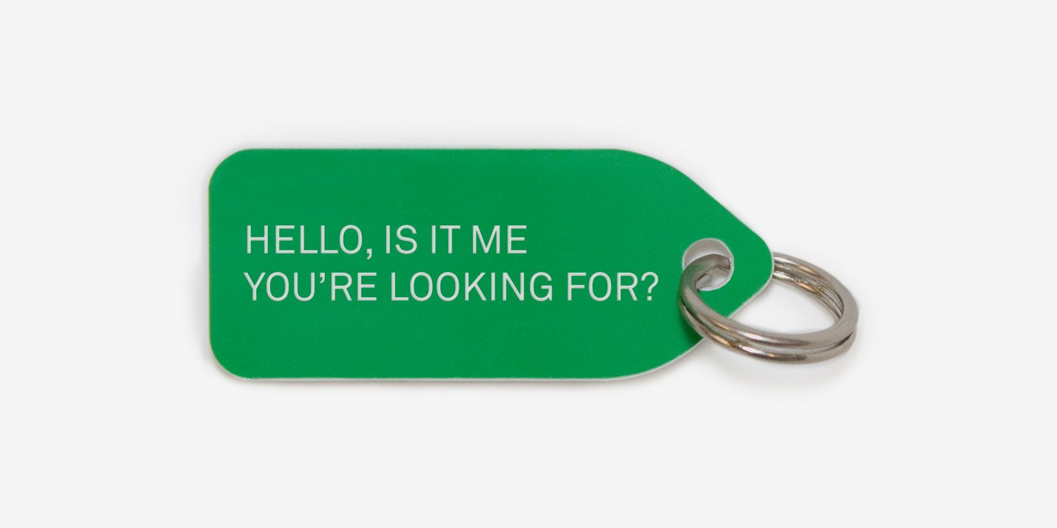 Dog tag - Hello is it me you're looking for?