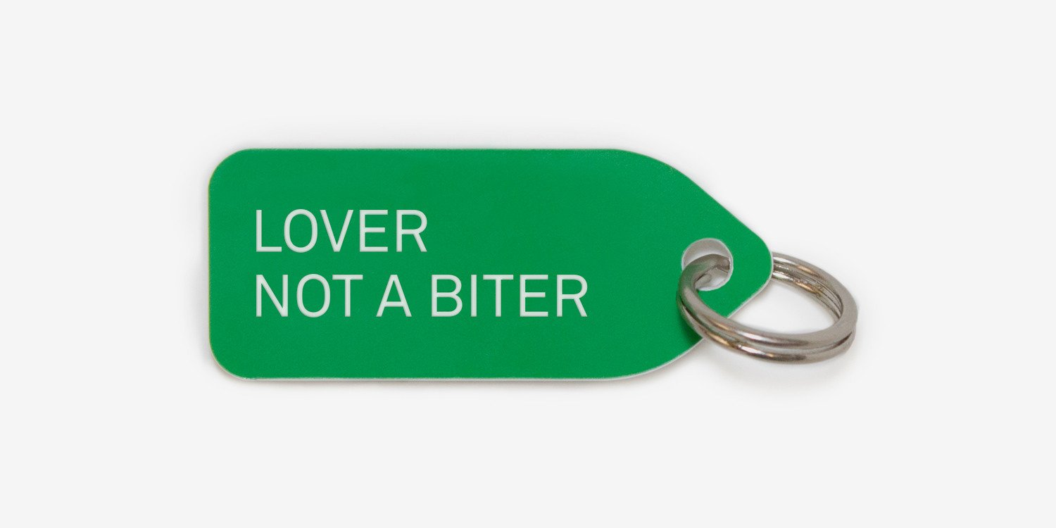 Lover not a biter | collar charm | dog tag | Growlees