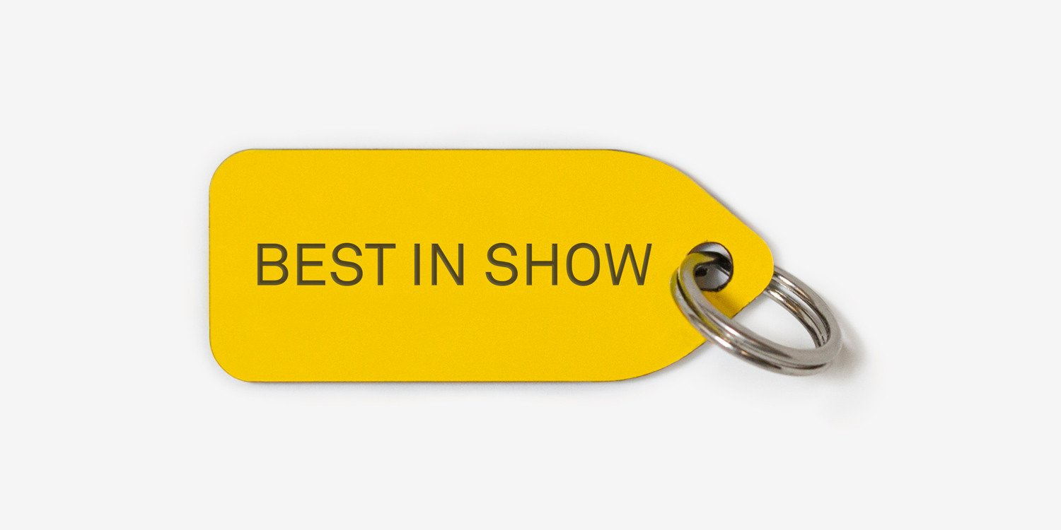 Dog tag | Collar charm - BEST IN SHOW tag - Best in Show