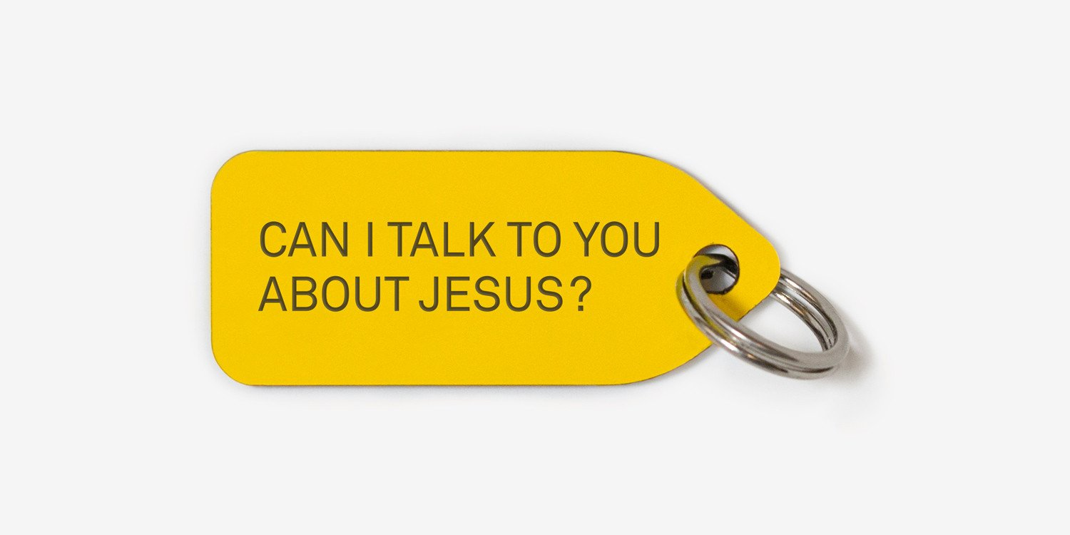 Can I talk to you about Jesus? | dog tag | collar charm |