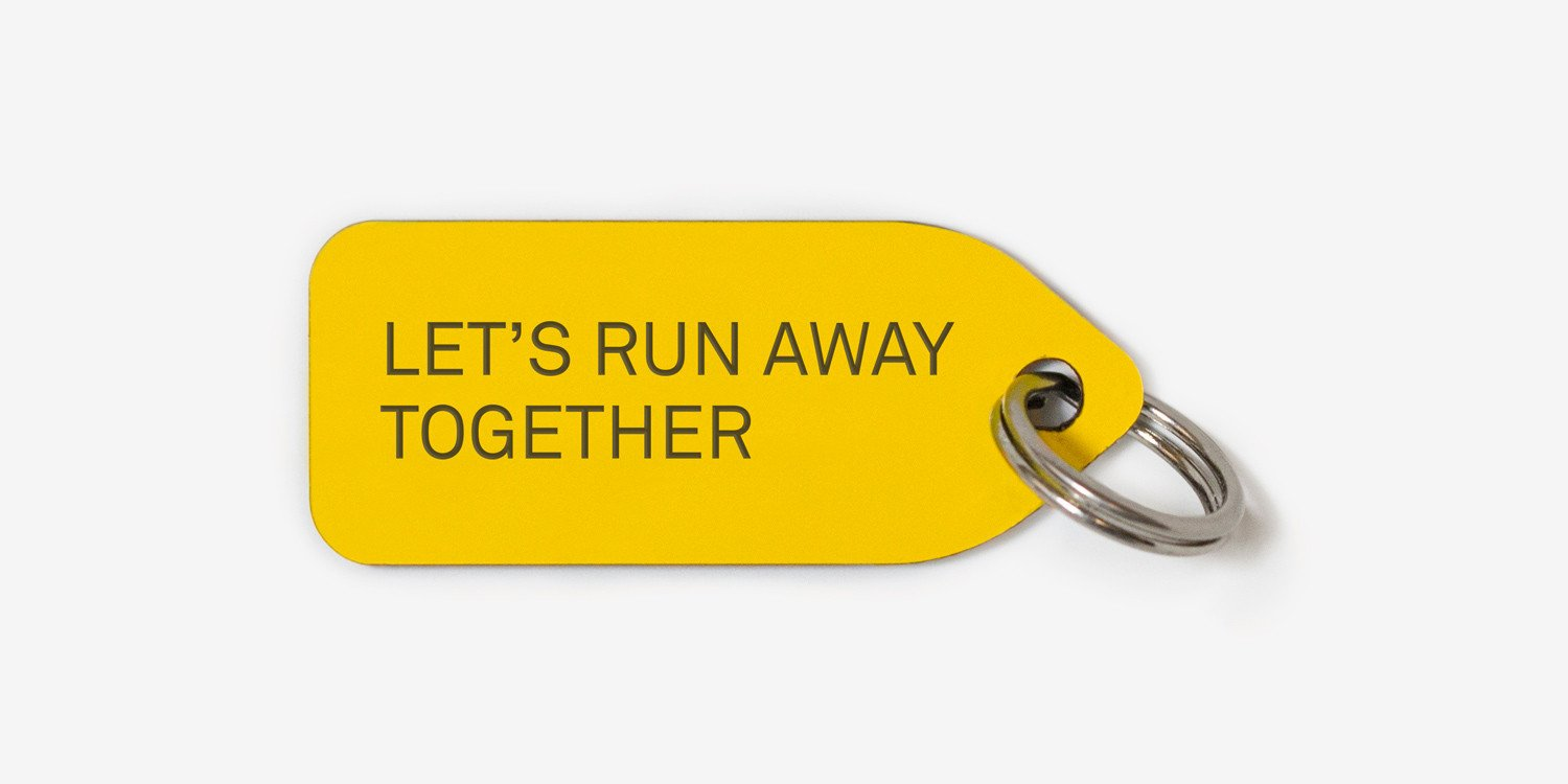Dog tag - Let's run away together