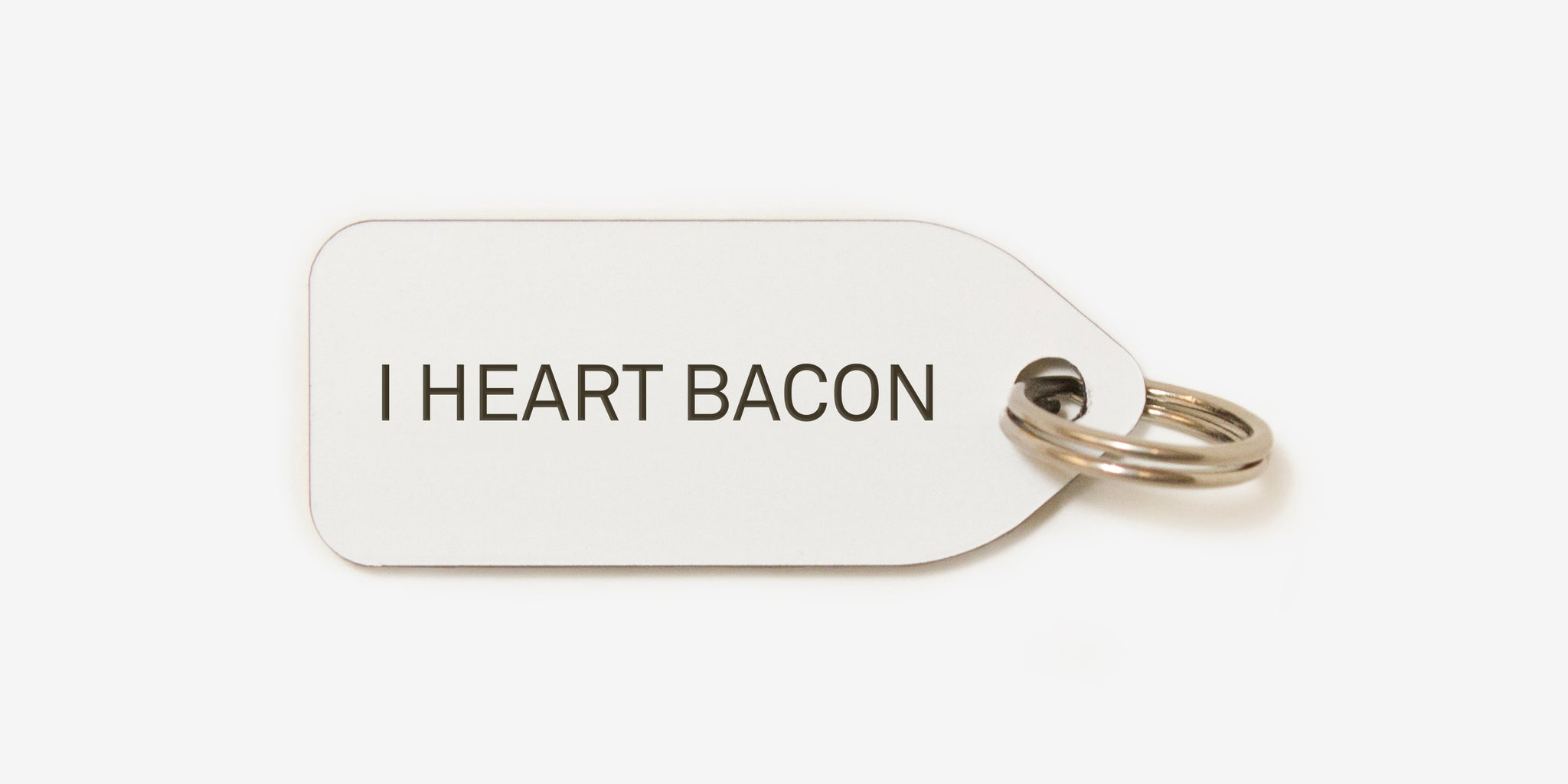 I heart bacon | dog tag | collar charm |