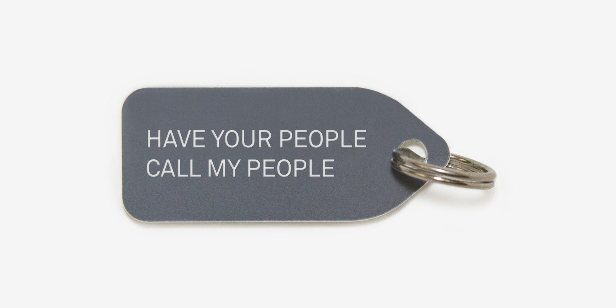 Have your people call my people | dog tag | collar charm |