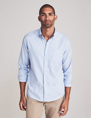 Stretch Oxford Shirt  Blue Heather