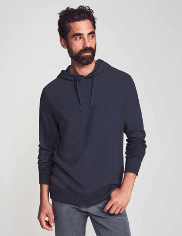 Blue Nights Slub Cotton Hoodie
