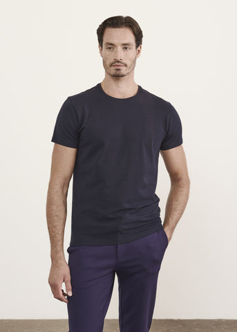 Iconic Pima Cotton Stretch Crew T-Shirt Midnight