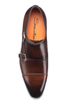 INCA 01 50 Double Buckle Monkstrap Dress Shoe Cognac