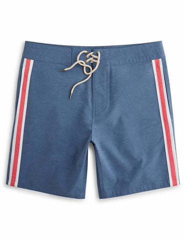 Retro Surf Stripe Board Short Blue