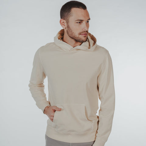 Terry Pop-Over Hoodie Cream