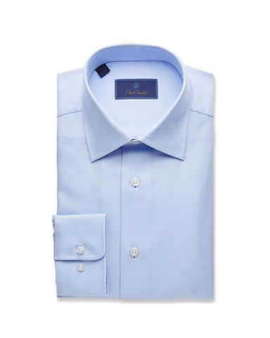 Blue Trim Fit Royal Oxford Dress Shirt
