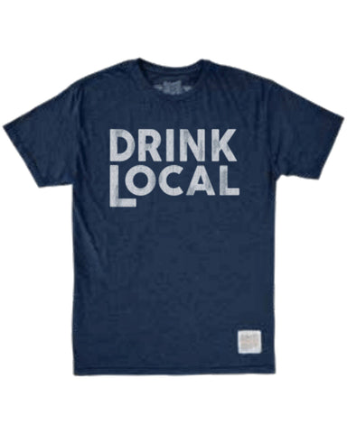 Drink Local T-Shirt Blue