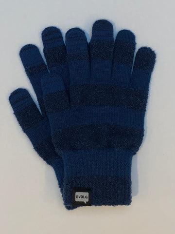 MC Evolg Gloves Knit Unisex One Size Blue