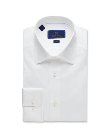 White Slim Fit Royal Oxford Dress Shirt